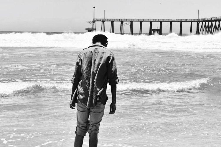 Walk alone Sadness Beach Rosarito<3