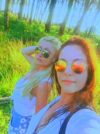 Hello World Holidays Tale  Fairytale  Fairytales & Dreams Fairy Land Wonderland✨ Nature Trees Green Green Green!  Sunglasses Wet Hair Hot Day Summertime Girls Blonde And Brunette Friends Life Is Beautiful