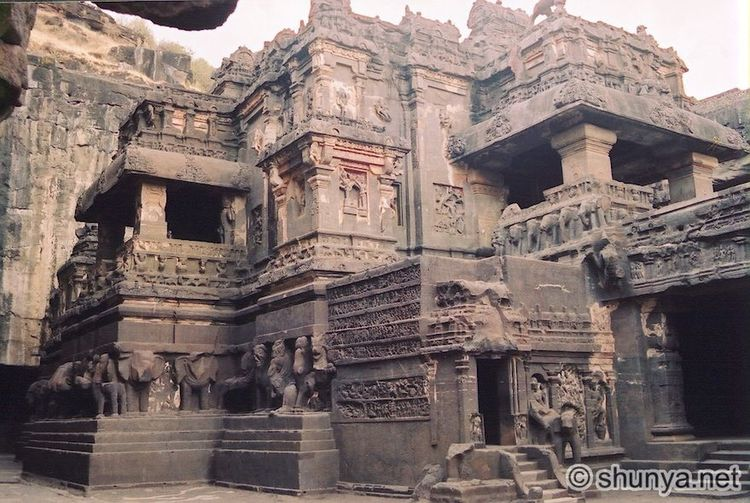 Ajanta & Ellora caves built in huge mountain & stone carvings Architecture