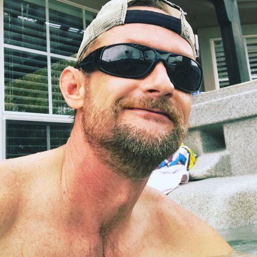 Hottub Time Beard Headshot Sunglasses Outdoors