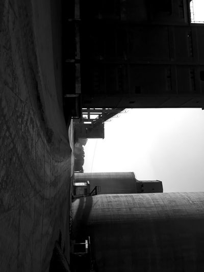 Concrete Black And White Road Factory Dark Silent City Water Architecture Building Exterior Sky Built Structure Industrial Building