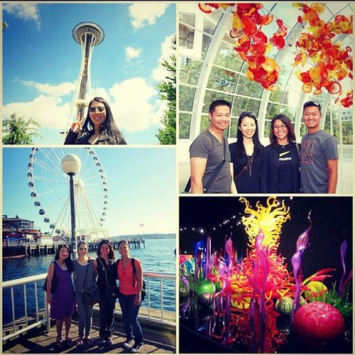 Late post but my 🆕 SEATTLE VLOG is LIVE on 🎬 YouTube.com/FashionablyAmy. Direct link to my channel Inmybio ! ✌ Bff Seattle Chihulygardenglass gumwall spaceneedle ferriswheel travel pikeplacemarket youtuber fashionablyamy youtube