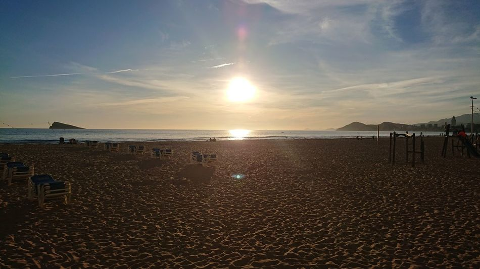 another #Sunny day in #Benidorm Beach Sea Water Sand Cloud - Sky Sky