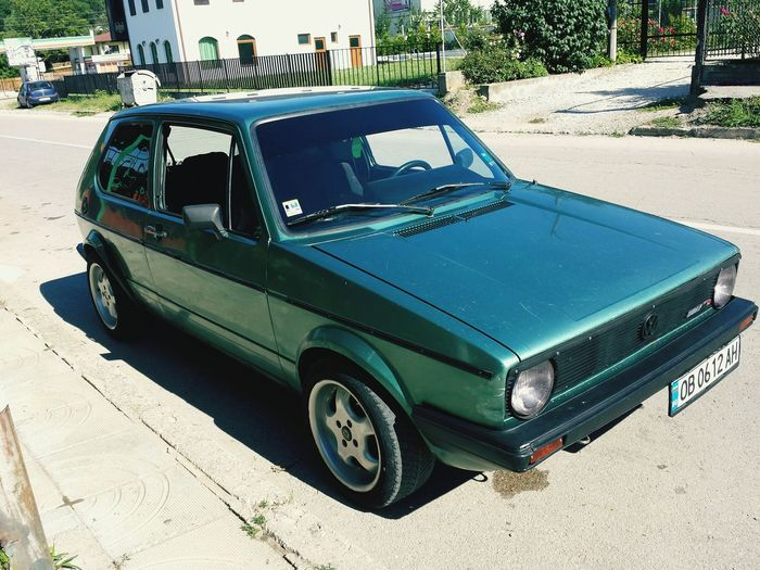 Car Street Day Outdoors No People Mk1 Vw Golf Mk1 Freshness Car Porn Love My Car Green Color Sunny Day Golf 1 Vw Golf Volkswagen First Eyeem Photo Hello World ✌ Relaxation Mk1 Golf