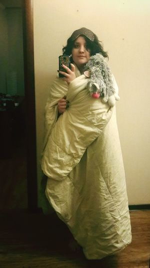 Costume For Halloween is Ready Blanket Girl Cat Scarf