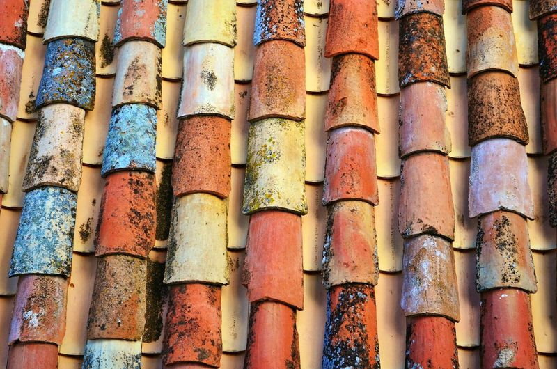 Full frame shot of roof tiles