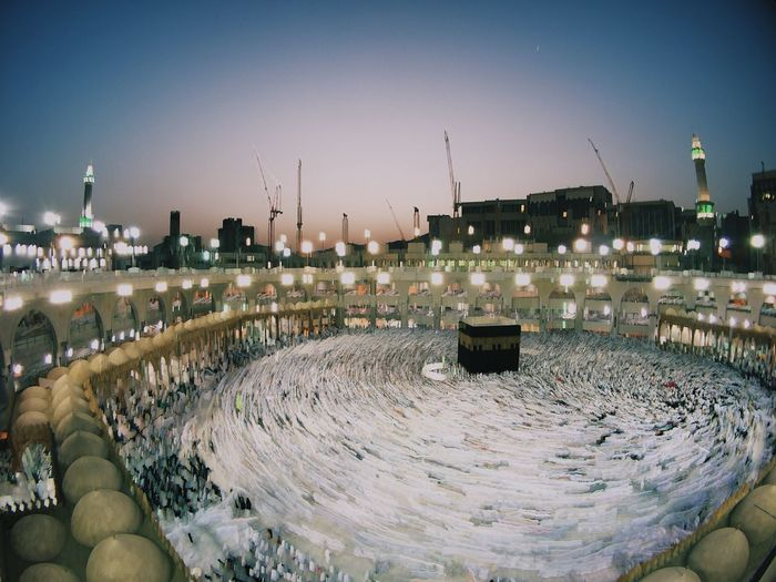Kaaba Life Mecca Tawaf Architecture Blackstone Building Building Exterior City Cityscape Clear Sky Human Body Part Kaaba Landscape Mecca Al-mukarramah Nature Night One Person Outdoors Panoramic Real People Sky Sunset