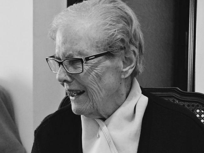 Love her👵🏼 Grandma Family Home Sweet Home Love Laughing Photography Blackandwhite Women Who Inspire You