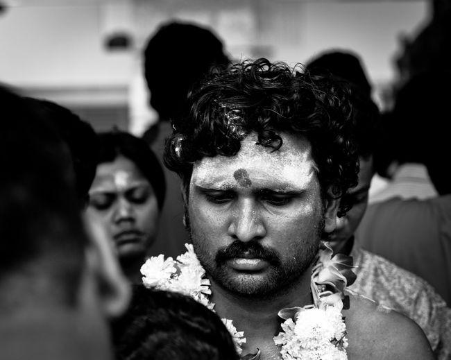 Thaipusam Blackandwhite Close-up Festival Headshot Hindu Hinduism Human Face Portrait Singapore Thaipusam