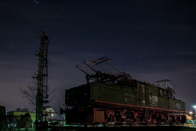 Train and stars