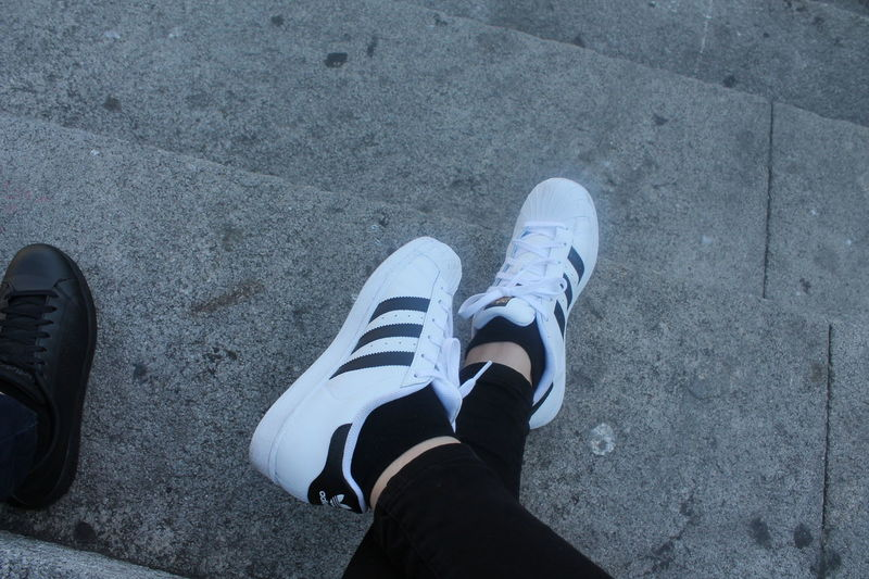 Shoe Low Section Personal Perspective Human Body Part Human Leg One Person Real People Lifestyles Close-up Outdoors Day People Adidas Adidasoriginals Adidaslover White Shoes