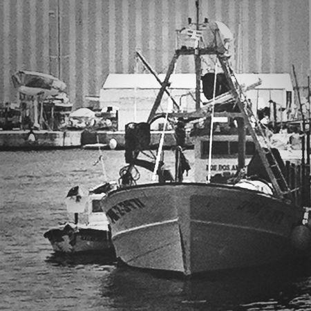 b Black & White Pescadores barco de Barco De Pesca