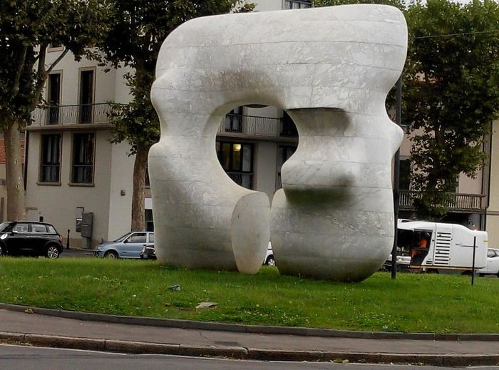 Henry Moore sculpture in Prato,Italy Hello World