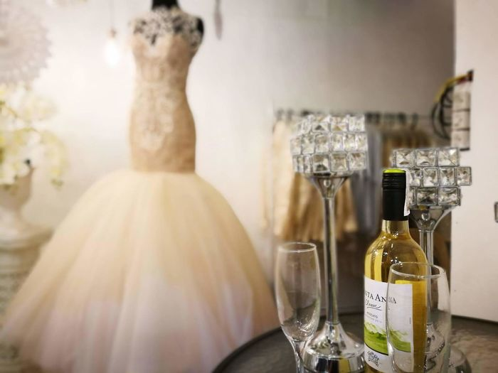 Bottle No People Scented Indoors  Close-up Gown White Gown Champagne Glass Wine Not