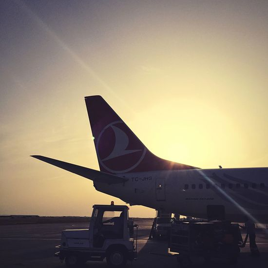 Airport Turkishairlines Northcyprus Nicosia Ercanairport Sunset Back Photography