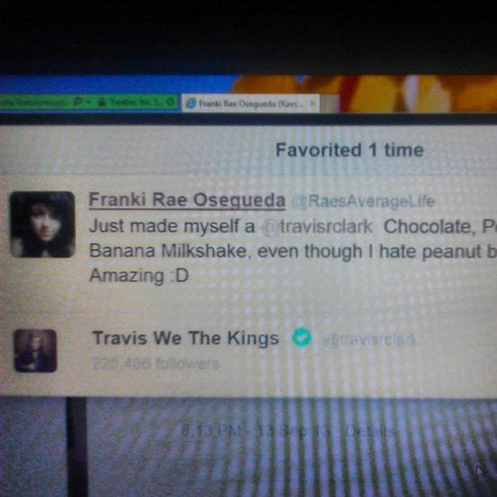 TRAVIS-F-ing-CLARK favorited my TWEET.! Just the fact that he noticed me.!!! Ahh, I can officially die happy now! Travisclark Wethekings Overwhelming Dyinginside donttouchme twitter fangirling bestdayever justkeepbreathing wtk officiallydead travisrclark