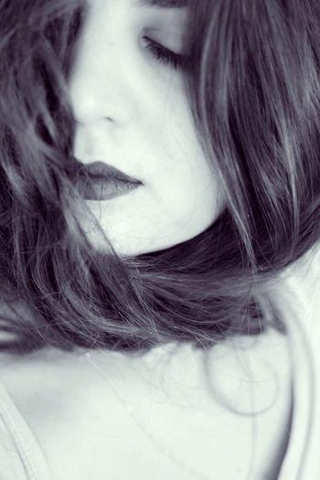 Woman in hair