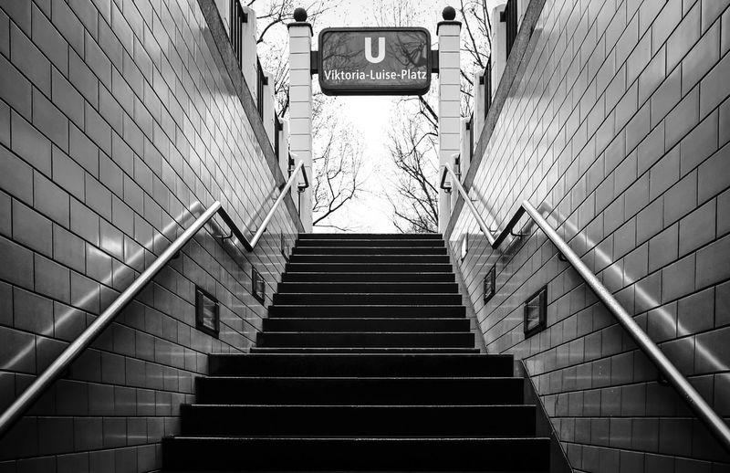 stairway ... Architecture Best Of Stairways Built Structure City Life Diminishing Perspective Geländer Low Angle View No People Railing Sign Staircase Stairs Stairs Stairs_collection Stairway The Way Forward Treppe Treppenhaus U-Bahnhof Ubahnhof Urban Viktoria-luise-platz