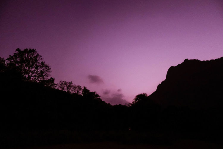 Purple Sky Beautiful Beauty In Nature Dark Dawn Dusk Here Belongs To Me Idyllic India Kerala Landscape Mountain Mountains Nature Night Outdoors Outline Palakkad Purple Silhouette Sky Spring Sunset Tranquil Scene April Showcase