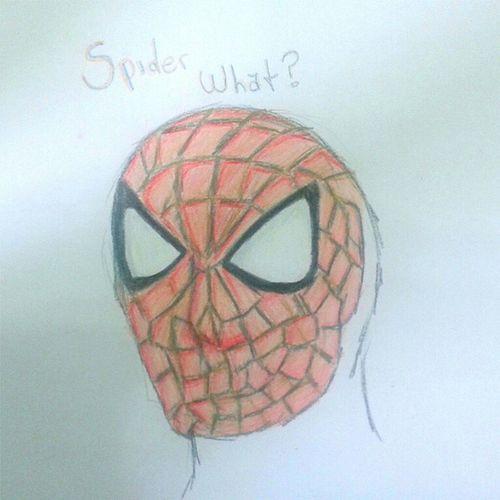 SPIDER WHAT. O desenho mais lindo feito durante a ausência de pacientes. Spiderman Homemaranha Wut