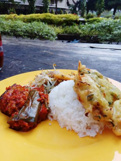 One of fav indonesian food.. No People Food Plate Ready-to-eat Outdoors Indonesiafood Foodphotography Day Eyeemphotography Yummy Happytummies Foodlovers Jakartafood Jakarta Indonesian Photographers Collection