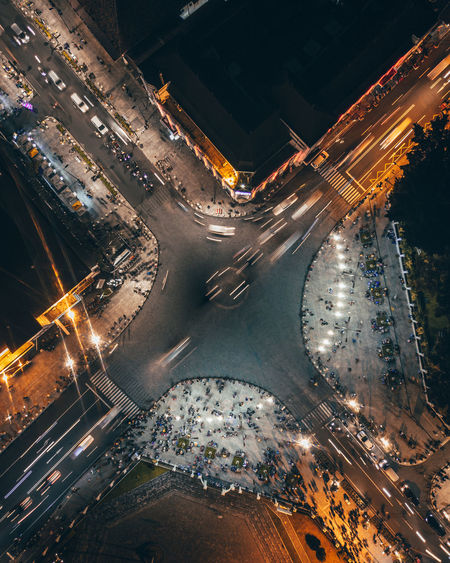 O Km Yogyakarta City Architecture Road Night High Angle View Car City Life City Street Light Trail Outdoors Traffic Street Building Exterior Lowlight Lowlightphotography Citylights Cityscape INDONESIA Yogyakarta Aerial View Aerial Photography Drone  Dronephotography Nightphotography Aerial Shot