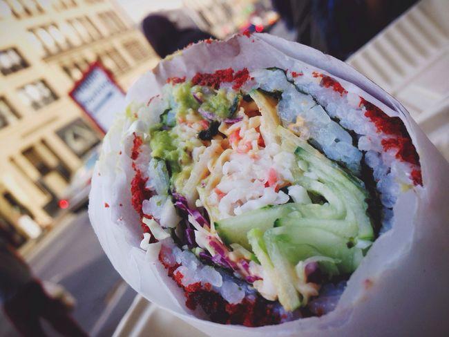 Public Exhibition (Part 2 of 2) [Sumo Crunch, Sushirrito] Eating Sushi Japan Food