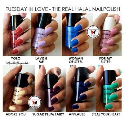 ☆TUESDAY IN LOVE ☆ Nailpolish … Finally, a nail polish for muslim women, Tuesday in Love is a Canadian company specializing in water permeable nail polishes … … KODE: 1 ⇨ YOLO 2 ⇨ LAVISH ME 3 ⇨ WOMEN OF STEEL 4 ⇨ FOR MY SISTER 5 ⇨ ADORE YOU 6 ⇨ SUGAR PLUM FAIRY 7 ⇨ APPLAUSE 8 ⇨ STEAL YOUR HEARTH … ⇨HALAL ⇨Bisa dibawa shalat ⇨Aman Dipakai utk Cewek muslim dan Anak2 ⇨Original 100% ⇨Mudah Dibersihkan ⇨Mudah Dikelupas, Bisa tanpa menggunakan Aseton ⇨Air dapat Menyerap ke Kuku ⇨Tidak Merusak Kuku … Minat? ⇨Line: ollabutterfly ⇨BBM: 7d317d9c ⇨Transfer only BCA and MANDIRI ⇨Serious Buyer Only Happy Shopping I`Shop ~ ❤ … Kuteks Nailpolish Inglot Inglotnailpolish kuteksinglot halal kutekshalal halalnailpolish muslim inglotmurah kuteksmurah opi rubi pokari kuteksoriginal originalnailpolish zoya enamel ollamossabil ianollashopmarket goshmurah Palangkaraya banjarmasin pontianak nyx balikpapan etude oriflame hijab tuesdayinlove