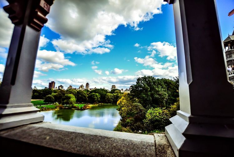 EyeEm Selects Sky Cloud - Sky Architecture Day Window Water No People Built Structure Reflection Building Exterior Nature Tranquility Outdoors Scenics Swimming Pool Tree Beauty In Nature CentralPark Belvedere Castle Urban Oasis NYC City Life
