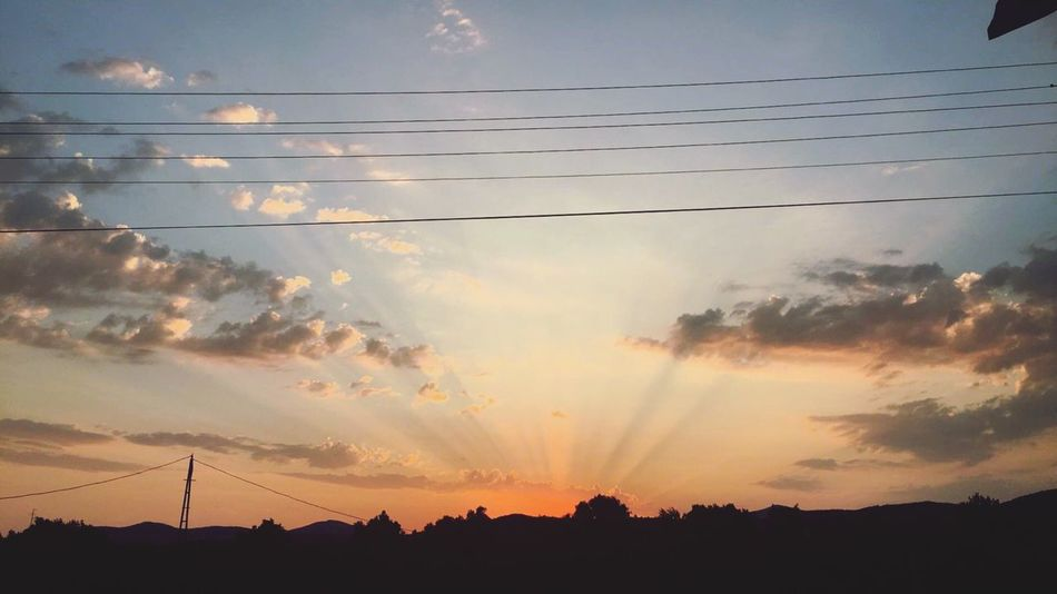 Electricity  Sky Sunset Power Line  Power Supply Cloud - Sky Fuel And Power Generation Cable Electricity Pylon Silhouette No People Nature Outdoors Technology Connection Sun Scenics Beauty In Nature Day Turkey Ozdere