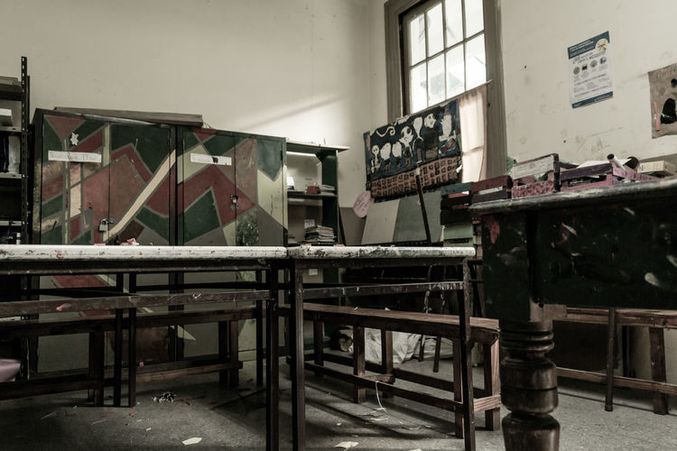Interior of old abandoned factory