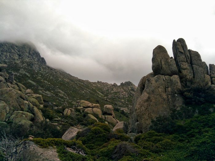 Nature EyeEm Nature Lover Outdoors Tranquility Rock Formation Scenery Landscape Valley Mountains Clouds And Sky Beauty In Nature Hiking Hiking Photos Rock - Object Sky Landscape Foggy Fog
