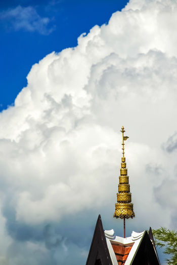 Architectural Feature Architecture Blue Sky Built Structure Cloud - Sky High Section Place Of Worship Religion Sky Spirituality Studying Temple Temple - Building