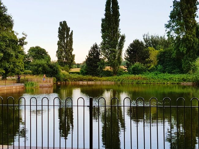 Lake in brockwell park, brixton, london