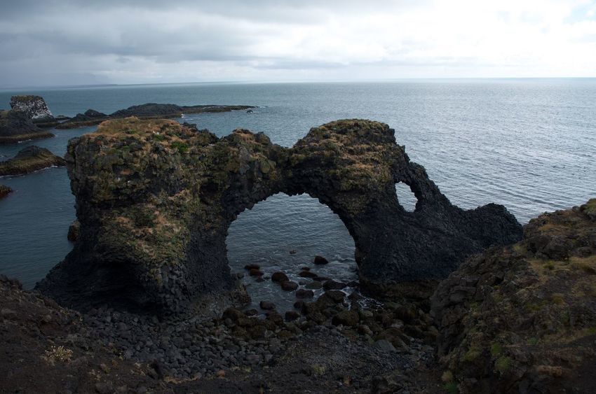 Geology Iceland Rock Formation Sea