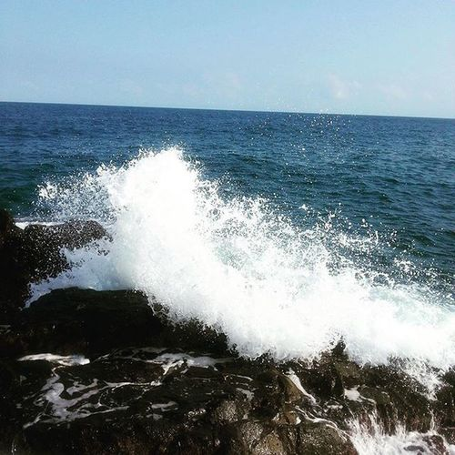 Flashback Chopati Waves Rock Ocean Morning Walk Time Pic perfectly Timed click the purity lies in it..