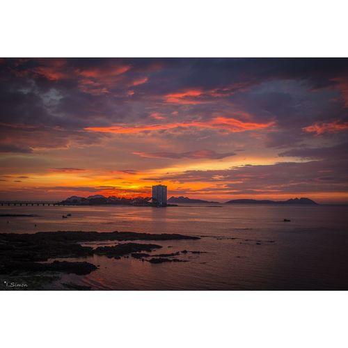 puesta de sol vigo Ig_spain Galicia Intragram