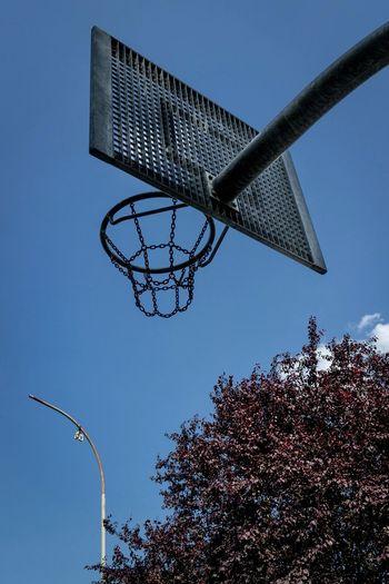 Negative Space Basketball EyeEm Best Shots Blue Sky Streetphotography Emptiness