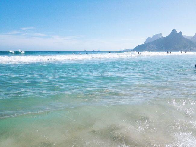 Rio de Janeiro Beach Beauty In Nature Brazil Clean Water Day Ipanema Ipanema Beach Nature Praia Rio De Janeiro Rio De Janeiro Eyeem Fotos Collection⛵ Scenics Sea Tranquil Scene Tranquility Water