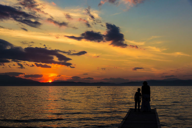 Thassos, Greece Pier Romantic Thasos Thassos Beach Beauty In Nature Golden Hour Greece Horizon Over Water Jetty Landing Stage Nature Orange Color Outdoors Scenics Sea Silhouette Sky Standing Sun Sunset Tranquil Scene Tranquility Two People Water