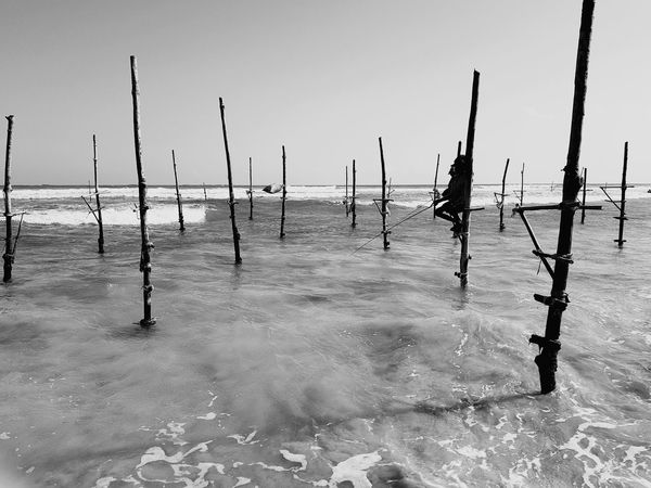 Sea Water Beach Horizon Over Water Outdoors Day Nature Sky Tranquility No People Scenics Sand Beauty In Nature Nautical Vessel Fishing Man Sri Lanka 🇱🇰 Blackandwhite Black & White EyeEmNewHere EyeEm Selects Investing In Quality Of Life Done That.