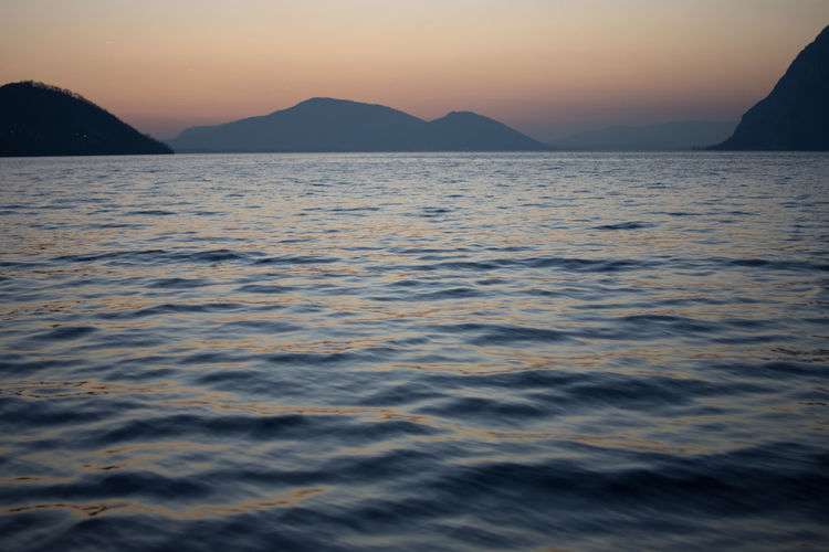 #Dusk #Lake #Panorama #iseo #iseolake #italy #water #waterscape Beauty In Nature Nature No People Outdoors Scenics Sky Tranquil Scene Water