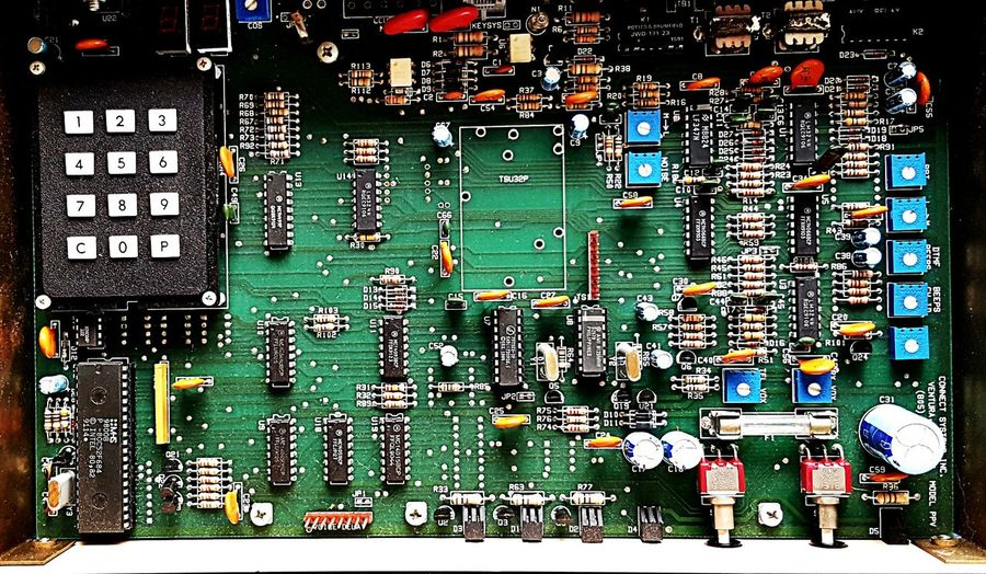 Innards Computer Chip Circuit Board Technology Mother Board Electronics Industry Full Frame No People Computer Part Complexity Close-up Computer Indoors  Day Headache Inhuman Old Green Colorful Textures And Surfaces Business Finance And Industry