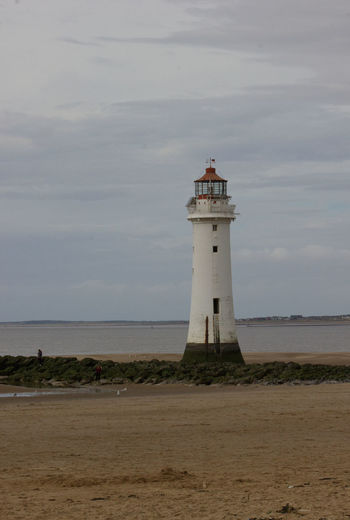 Protection Guidance Lighthouse Safety Direction Architecture Built Structure Sea Security Water Horizon Over Water Tower Building Exterior Beach Shore Tranquility Scenics Tranquil Scene Sky Calm Mouth Of The River River Mersey Mouth Of The River Mersey