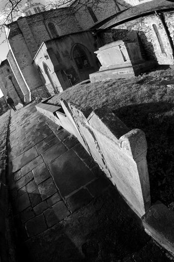 On The Way To The Grave Architecture Blackandwhite Building Building Exterior Built Structure Day Deterioration Gravestones History Old Outdoors The Past Wall Wall - Building Feature