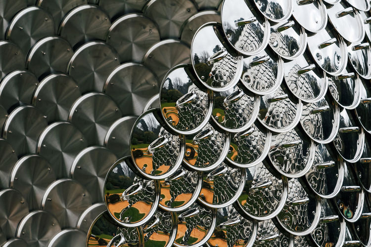 Large Group Of Objects Indoors  Abundance In A Row No People Arrangement Order Full Frame Shape Repetition Still Life Container Close-up Pattern Metal Stack High Angle View Design Choice Variation Pan