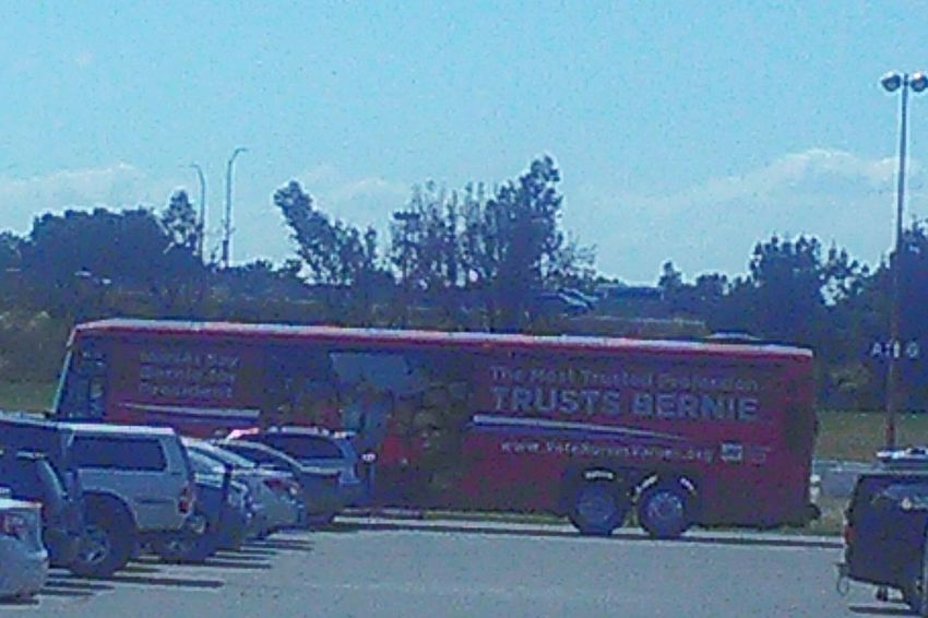 Taking Photos Check This Out My Point Of View Bernie2016 Feel The Bern!!! Bernie Sanders Bernie Sanders For Presient