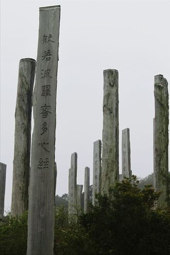 Hong Kong No People Outdoors Wisdom Path Wisdom Park Near Big Buddha Wooden Monument