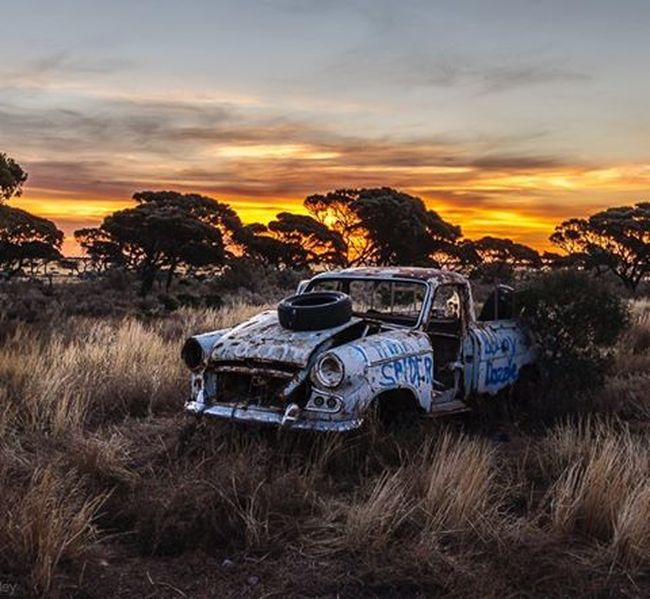 What a unique experience camping can be - especially when you're out in the desert, kilometres away from the highway, next to an abandoned house, and your campsite is basically neverland for abandoned cars. I was lucky to see Koonalda Homestead in South Australia on my roadtrip through the Nullarbor Plain -a fantastic way to soak up the vastness of this breathtaking country down under. You can read an entire article about this great campsite on my blog. Link in bio. Backpacking Roadtrip Boo Koonaldahomestead SA Southaustralia Australia Desert Offthebeatentrack Instapassport Wanderlust JustGo Nullarbor Vastopenspace Sunset Oldcars Cars Cemetery Abandoned Lostplaces Instagood Neverstopexploring  Explore Traveltheworld @australia @southaustralia