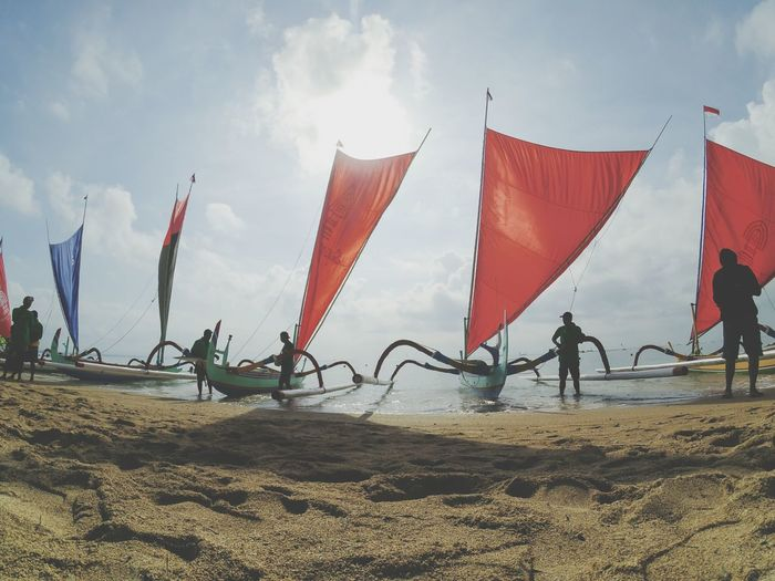 Prepare to Boat Competition Competition Boat Bali, Indonesia Beach Sand Full Length Sky Landscape Kiteboarding Water Sport Wake Entertainment Tent Horizon Over Water Circus Surfboard Parachute Paragliding Windsurfing Surfing Tent Hot Air Balloon Kite - Toy Ballooning Festival Shore